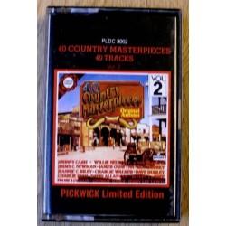 40 Country Masterpieces 40 Tracks: Vol. 2 (kassett)