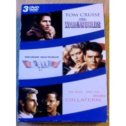 3 x Tom Cruise: Top Gun - Collateral - War of the Worlds DVD