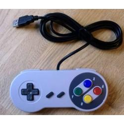Super Nintendo SNES joypad med USB-plugg til PC
