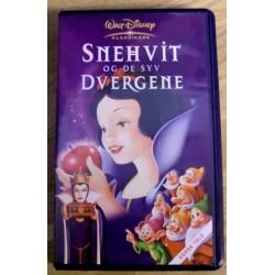 Walt Disney Klassikere: Snehvit og de syv dvergene (VHS)