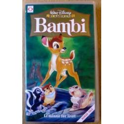 Walt Disney Klassikere: Bambi - Et minne for livet (VHS)