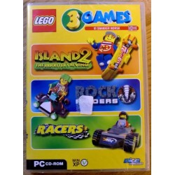 3 x LEGO spill - Racers - Rock Raiders - Island 2