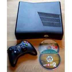 Xbox 360 Slim: Komplett konsoll med to spill
