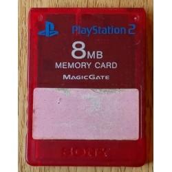 Sony 8 MB Memory Card Magic Gate (rødt)