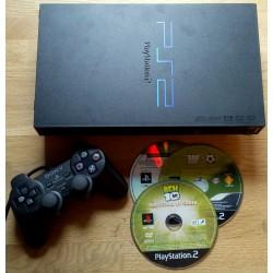 Playstation 2: Komplett konsoll med tre spill