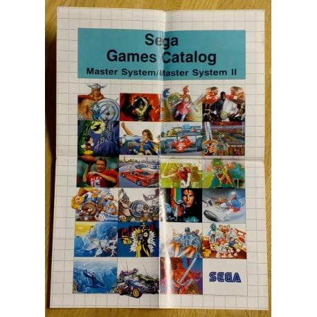 SEGA Games Catalog: Master System I og II