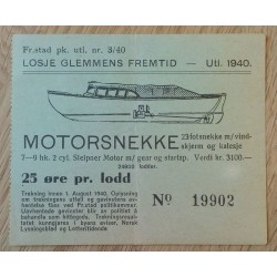 Losje Glemmens Fremtid - Utl. 1940 - Motorsnekke