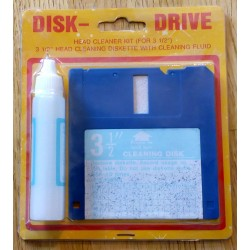 Disk Drive Head Cleaner Kit (For 3.5)