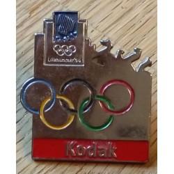 Pin: Lillehammer 1994 - Kodak - Emblem med store ringer