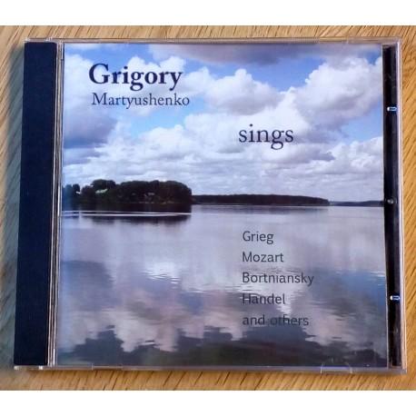 Grigory Martyushenko sings Grieg, Mozart, Bortniansky, Handel and others (CD)