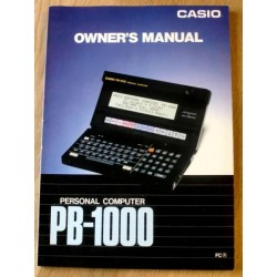 Casio Personal Computer PB-1000: Owner's Manual
