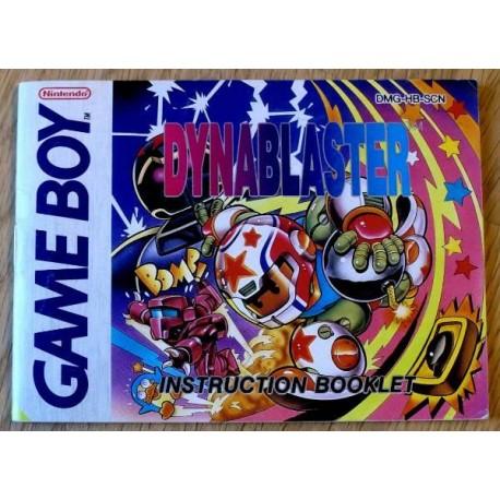 GameBoy: Dynablaster - Instruction Booklet