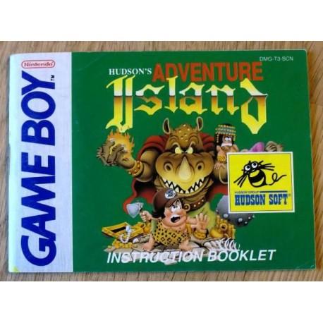 GameBoy: Adventure Island - Instruction Booklet