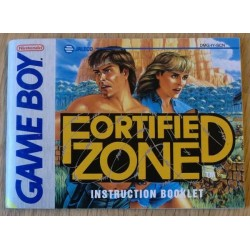 GameBoy: Fortified Zone - Instruction Booklet