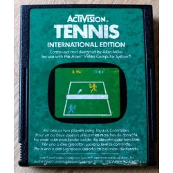 Atari 2600: Activision Tennis - International Edition (cartridge)