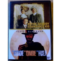 2 x Western - Butch Cassidy and The Sundance Kid og The Good The Bad The Ugly (DVD)