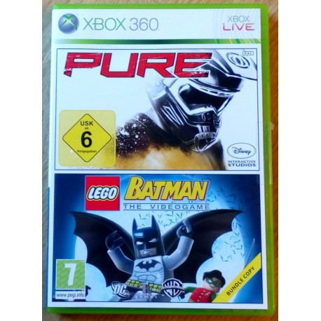 Xbox 360: Batman The Videogame og Pure