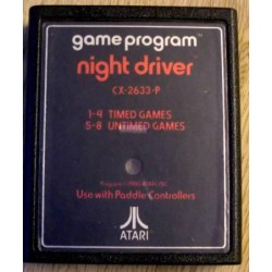 Atari 2600: Night Driver (cartridge)