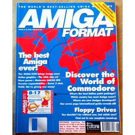 Amiga Format: 1993 - June - Around the World in 80K