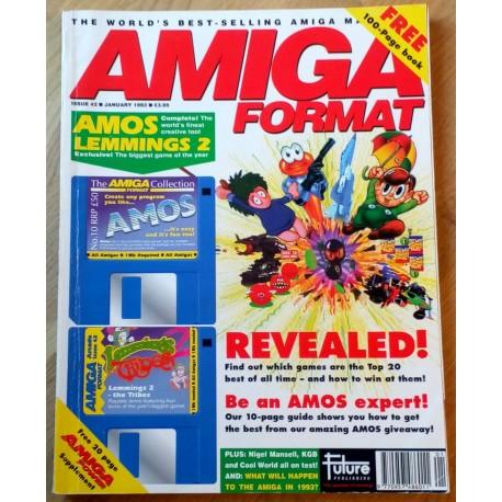 Amiga Format: 1993 - January - Santastic Lemmings too!