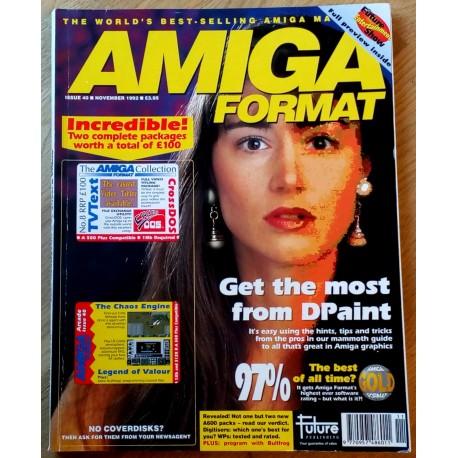 Amiga Format: 1992 - November - D-licious! D-lightful!