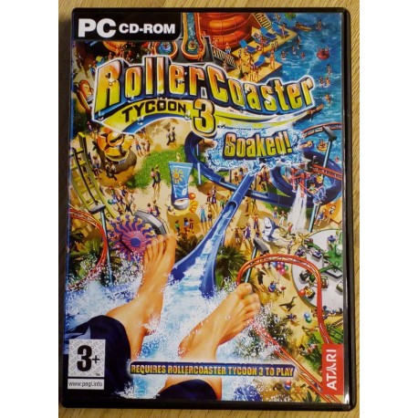 RollerCoaster Tycoon 3 - Soaked! (Atari)