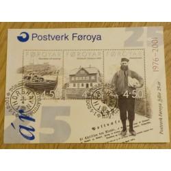 Frimerker: Færøyene - Postverk Føroya fyllir 25 år 1976-2001