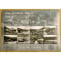 Frimerker: Færøyene - Atta posthus 100 år - 1903 - 2003
