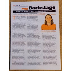 Amiga Format Backstage Newsletter: Issue 123