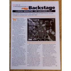 Amiga Format Backstage Newsletter: Issue 109
