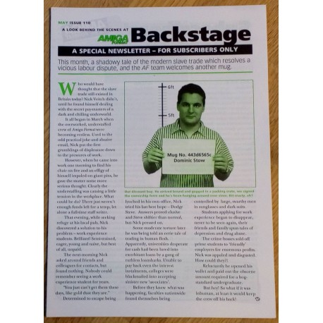 Amiga Format Backstage Newsletter: Issue 110