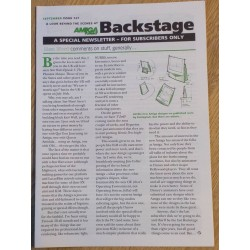 Amiga Format Backstage Newsletter: Issue 127