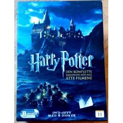 Harry Potter - Den komplette samlingen med alle åtte filmene (DVD)