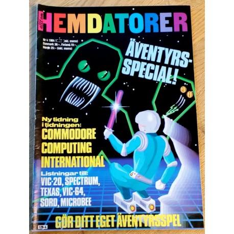 Hemdatorer: 1984 - Nr. 4 - Med listningar till VIC-20, Spectrum, Sord og mange flere