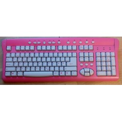 Rosa tastatur - USB - Norsk
