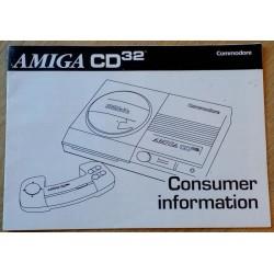 Amiga CD32 Consumer Information