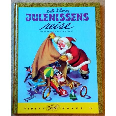 Tidens Gullbøker Nr. 26: Walt Disney - Julenissens reise - Visetekst av Alf Prøysen