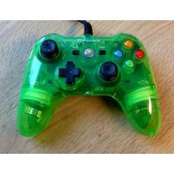 Xbox 360: PowerA joypad - Grønn og gjennomsiktig - Wired