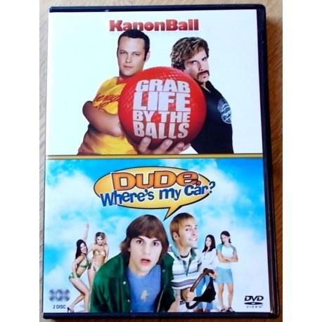 2 x komedie: KanonBall og Dude, Where's My Car (DVD)