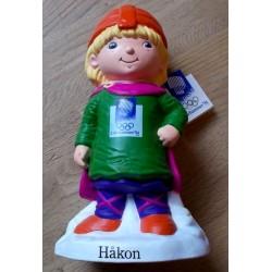 Sparebøsse: Lillehammer OL 1994 - Håkon - Sparebanken NOR - Med prislapp!