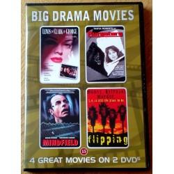 4 x dramafilmer: Lewis & Clark & George - Purgatory - Mindfield - Flipping