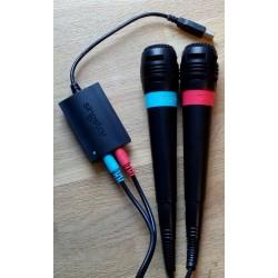 Singstar-pakke med to mikrofoner