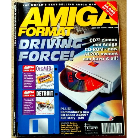 Amiga Format: 1994 - August - Driving Force!