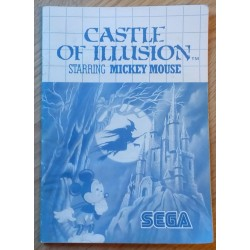 SEGA Master System: Castle of Illusions - Starring Mickey Mouse - Manual