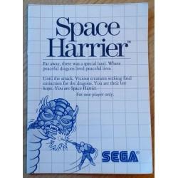 SEGA Master System: Space Harrier - Manual
