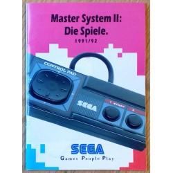 SEGA Master System II: Die Spiele 1991/92