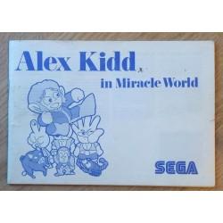 SEGA Master System: Alex Kidd in Miracle World - Manual