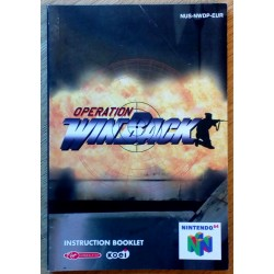 Nintendo 64: Operation WinBack - Instruction Booklet