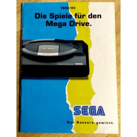 Die Spiele für den Mega Drive - 1992/93 - SEGA