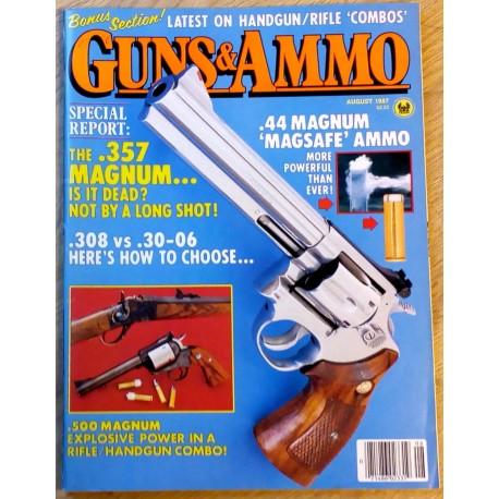 Guns & Ammo: 1987 - August - The .357 Magnum